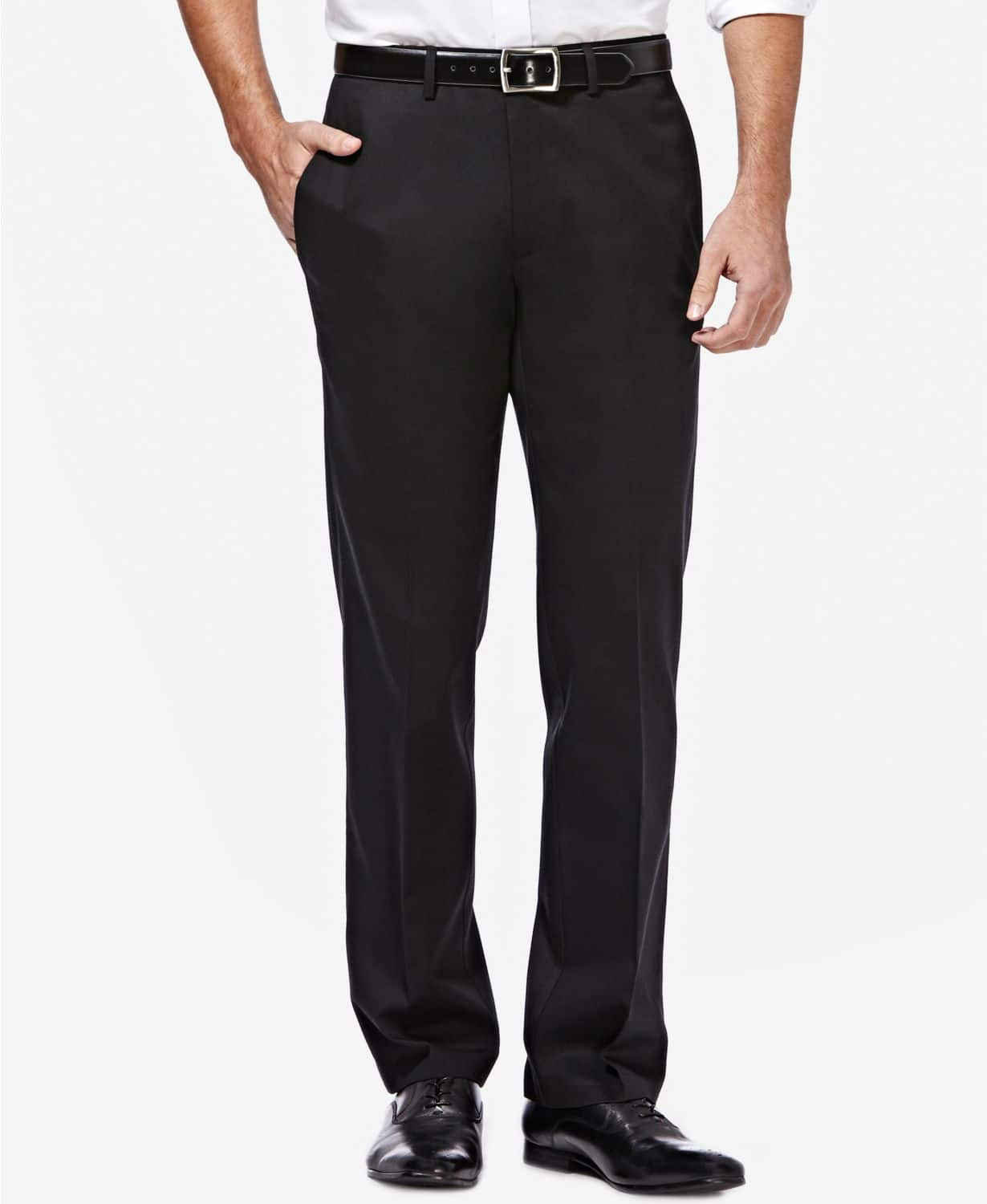 Haggar Men's Premium Straight-Fit Non-Iron Stretch Flat-Front Pants and Various Other Haggar Dress and Casual Pants - $19.99 at Macys. FREE Shipping