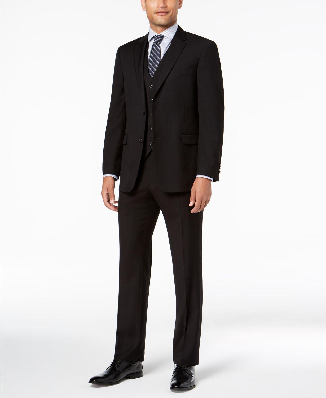 a7e66e0a47aef Tommy Hilfiger Men's Modern-Fit THFlex Stretch Vested Suit ...