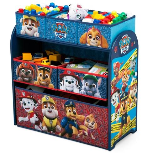 Kids Multi Bin Toy Organizer Paw Patrol Or Minnie Mouse