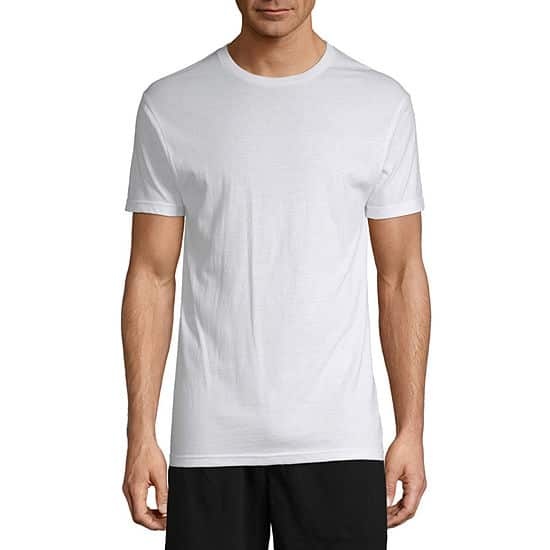 4ct  Stafford Mens Dry+Cool Blended Crewneck T-Shirts $15.49 ($3.87 each) at JCPenney. Free Store Pickup.