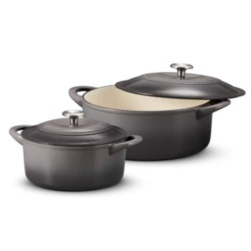 Sams Club Members: Tramontina Cast-iron Dutch Oven Set, 2-pack, 7-qt & 4-qt (Assorted Colors) $39.98.  Free Ship. Aug. 3 Only.