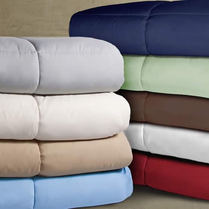 Royal Luxe Lightweight Microfiber Color Down Alternative Comforters ANY SIZE $19.99 at Macys