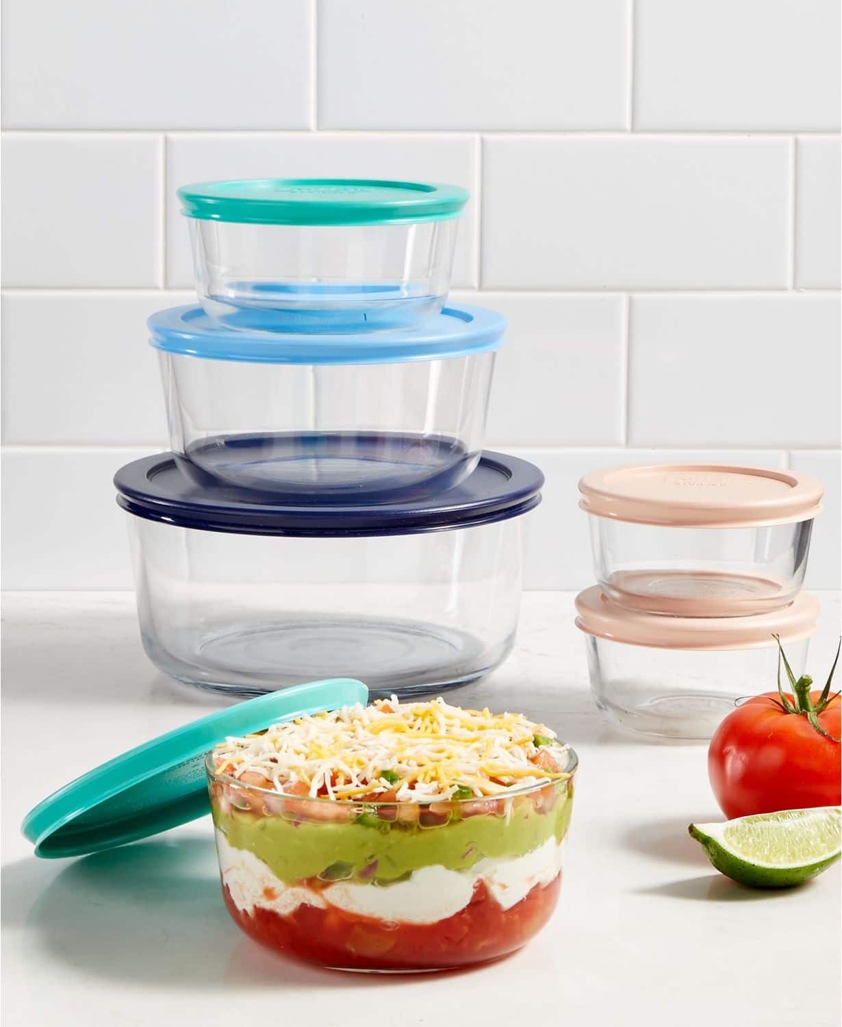 Pyrex 8-Piece Glass Mixing Bowl Set or Pyrex 12-Piece Glass Storage Set $14.99 each at Macys. Free Store Pickup or Free Ship at $25.