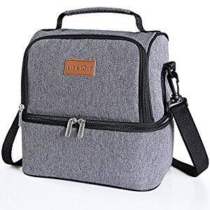 Insulated Dual Compartment Lunch Bag - $12.99 (AC) @ Amazon