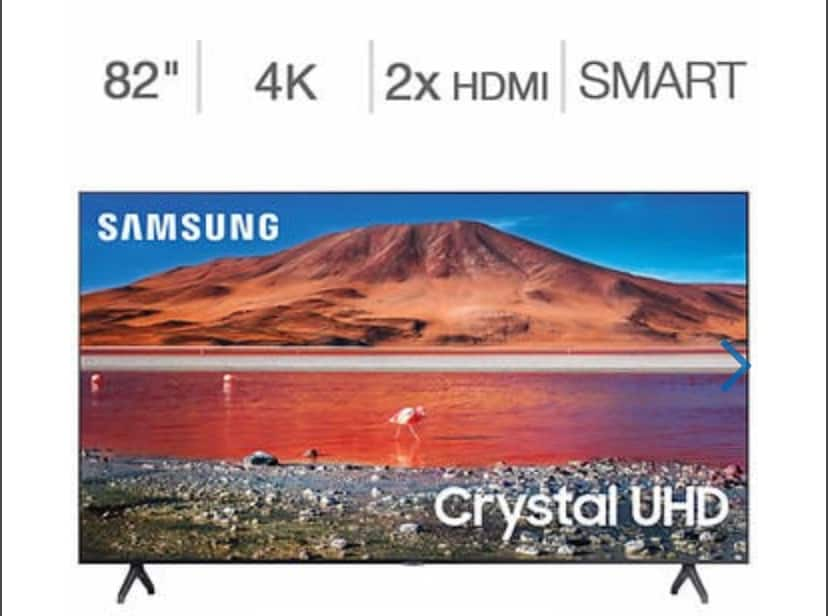"Samsung 82"" Class - TU700D Series - 4K UHD LED LCD TV for $1279 Costco with free shipping"