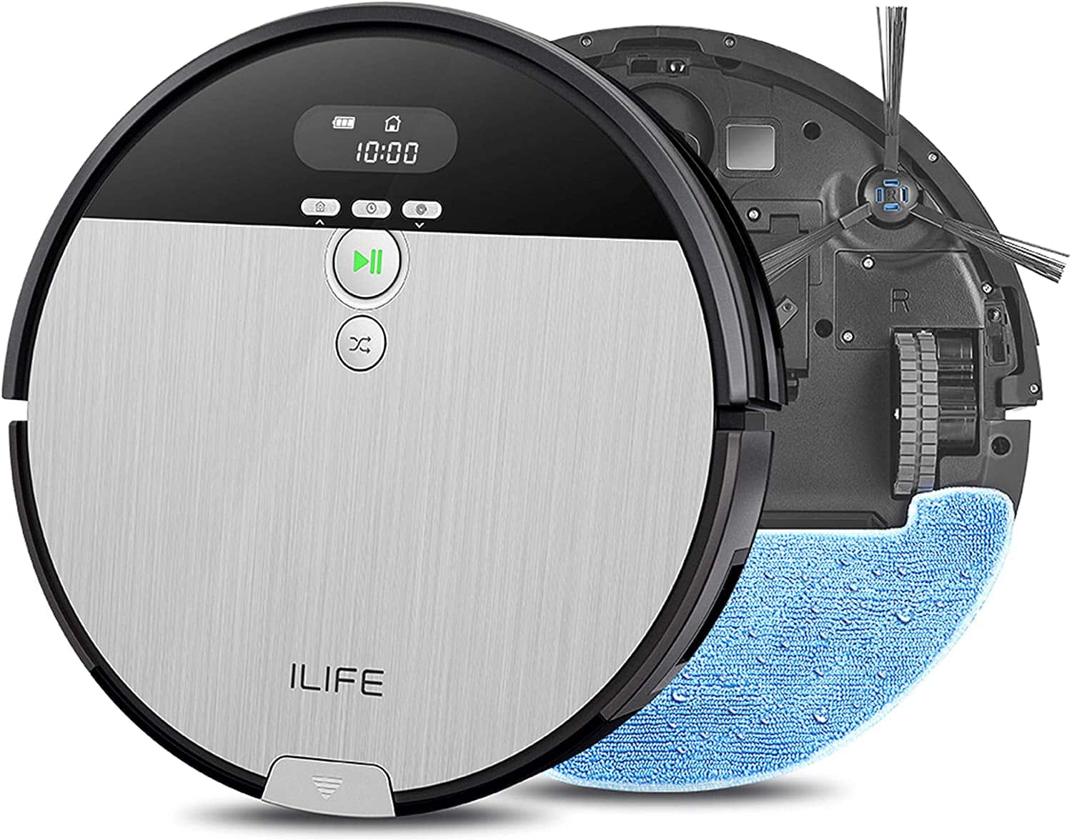 ILIFE V8s, 2-in-1 Robot Vacuum and Mop, Big 750ml Dustbin,Enhanced Suction Inlet,Zigzag Cleaning Path,Ideal for Pet Hair,Self-Charging Robotic Vacuum, LCD Display,Schedul - $169