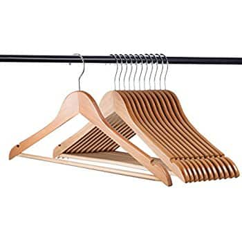 Zober Solid Wood Suit Hangers - 20 Pack for $15.49