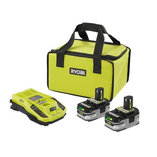 Ryobi ONE+ Lithium-Ion Kit with (2) 3.0 Ah LITHIUM+ HP Batteries,  Charger, and Bag $99