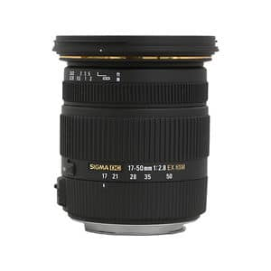 Sigma 17-50mm f/2.8 EX DC OS HSM Zoom Lens Canon: $250; Nikon: $240