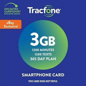 Tracfone 1-Year Prepaid Smartphone Activation Kit w/ 1200 Min, 1200 Txt, 3GB Data $39.99