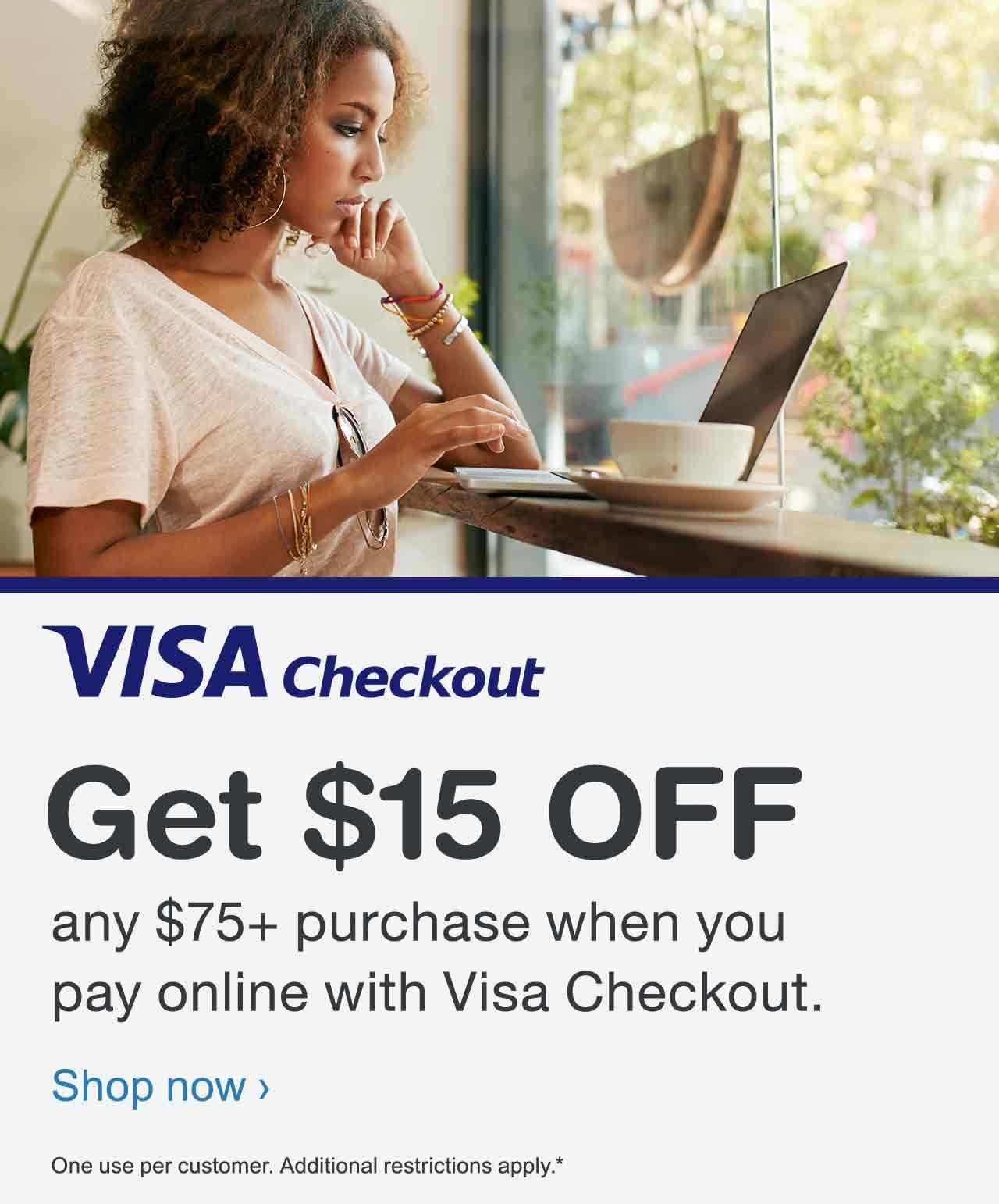 $15 off $75 at Walgreens When You Use VISA Checkout