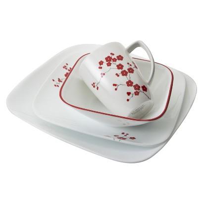 Ymmv Bu0026M  Target Corelle® Square™ 16pc Dinnerware Set Hanami Garden MSRP $75  sc 1 st  Slickdeals & Ymmv Bu0026M : Target Corelle® Square™ 16pc Dinnerware Set Hanami Garden ...