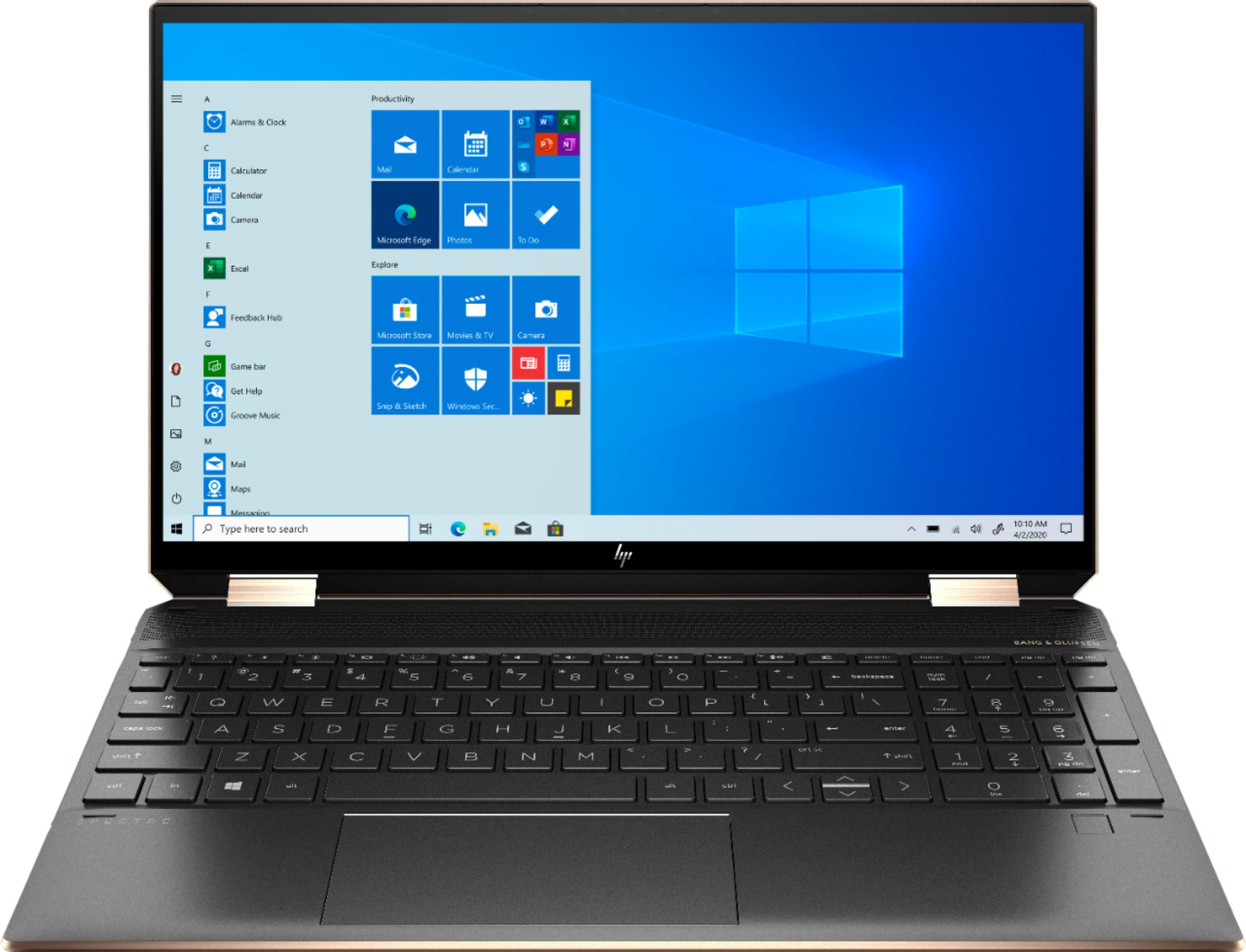 """BestBuy $1099.99 HP - Spectre x360 2-in-1 15.6"""" 4K Ultra HD Touch-Screen Laptop - Intel Core i7 - 16GB Memory - GeForce MX330 - 512GB SSD - Nightfall Black"""