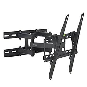 "VonHaus Double Arm Articulating Cantilever TV Bracket Wall Mount with Tilt- for 23""-56"" LCD LED Plasma Flat Panels - Reinforced Steel - Strong 100lbs Weight Capacity - $19.94"
