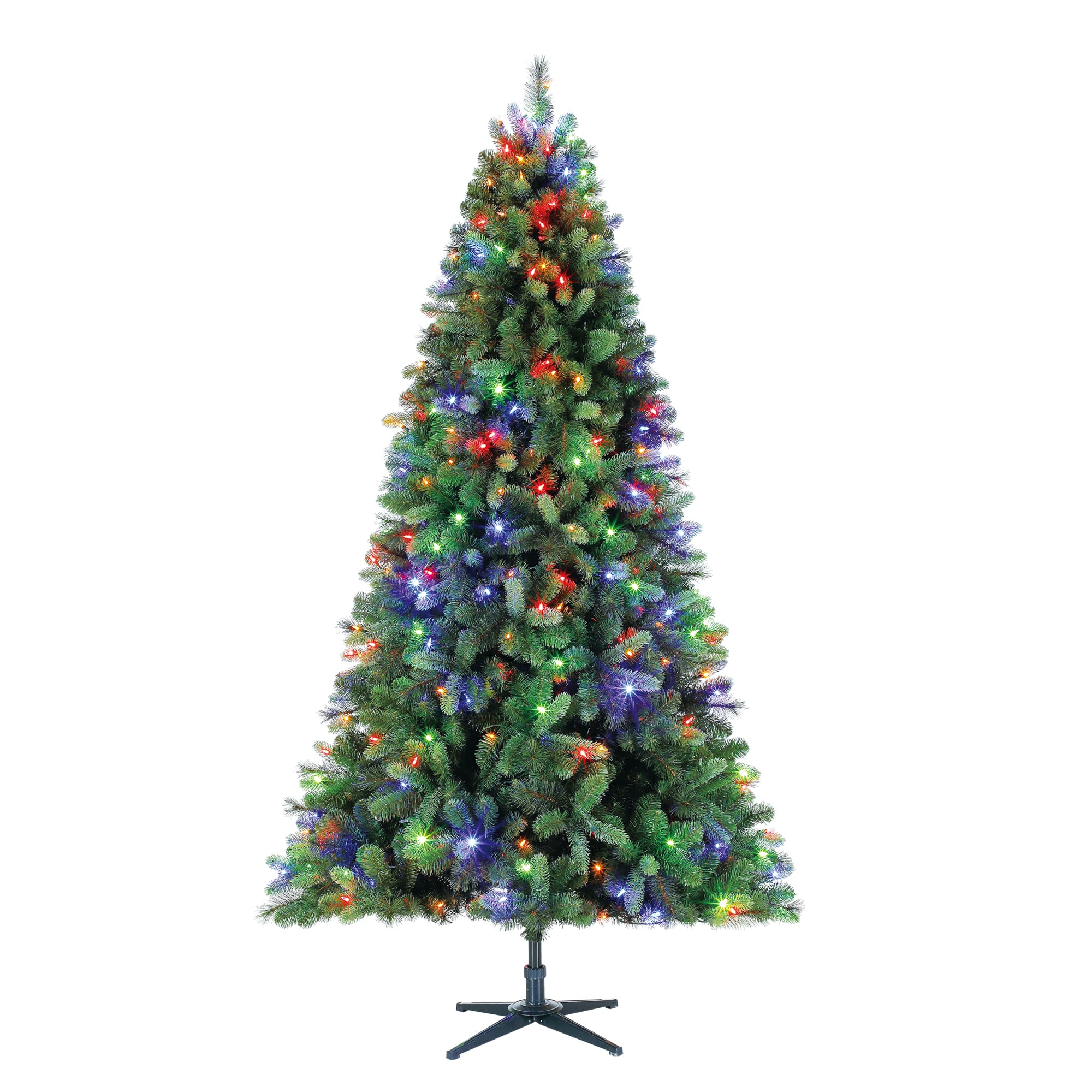 Holiday Time Pre-Lit 7.5' Norwich Spruce Christmas Tree, 350 Color Changing-Lights $68.00 YMMV