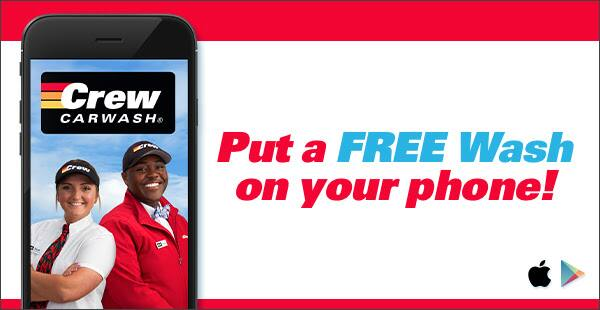 Crew Carwash: FREE Wash with New App! YMMV (Appears to be IN ONLY)