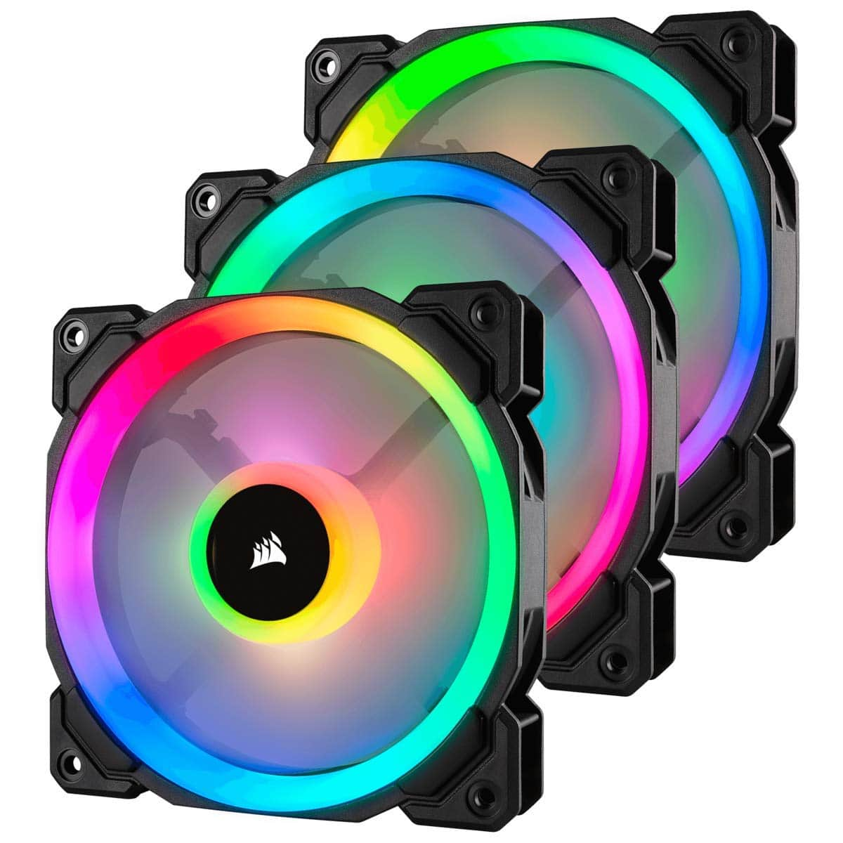 Amazon: Corsair LL Series LL120 RGB 120mm Dual Light Loop RGB LED PWM Fan 3 Fan Pack with Lighting Node Pro $75