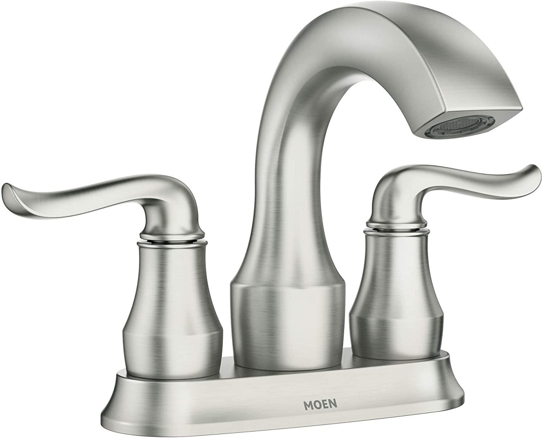 Moen 84300SRN Hamden Two-Handle 4-inch Centerset Bathroom Faucet, Spot Resist Brushed Nickel - $52.79 @ Amazon + FS