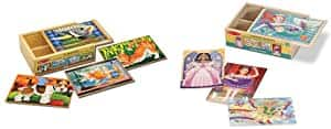 Melissa & Doug Wooden Jigsaw Puzzles in a Box - Pets & Fanciful Friends 4 puzzle boxes (8 total puzzles) - $9.54 @ Amazon + FS with Prime