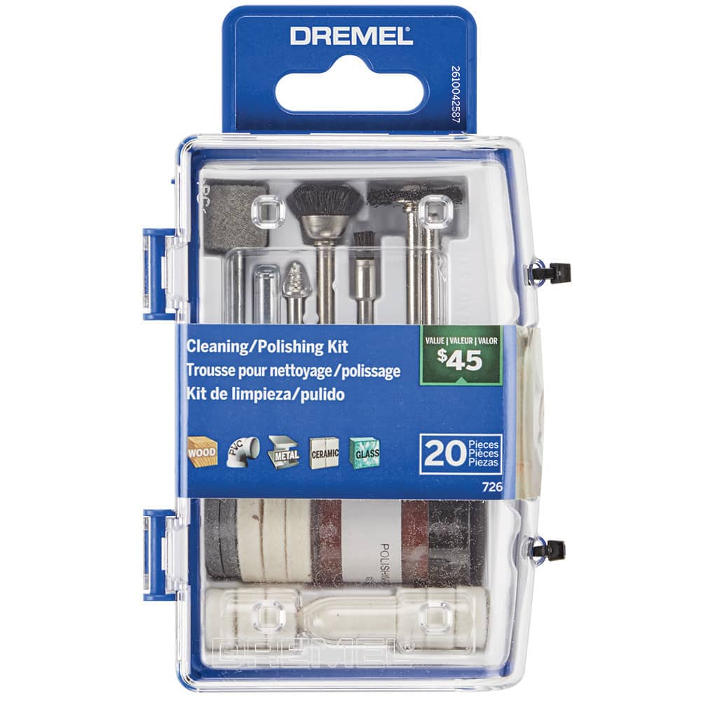 Dremel 726-02 20 PC Cleaning/Polishing Rotary Accessory Micro Kit - $3.85 @ Walmart + Free Store Pickup where available