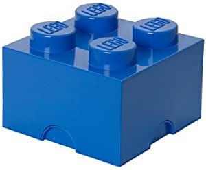 Room Copenhagen Lego Storage Brick Box, 4, Bright Blue - $10.99 @ Amazon + FS with Prime
