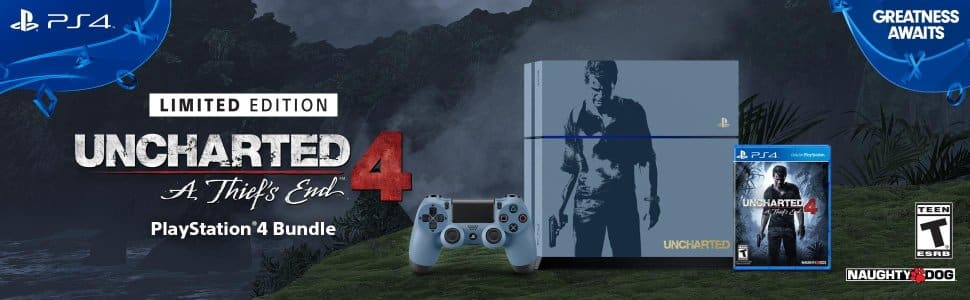 PS4 500GB Console - Uncharted 4 Limited Edition Bundle - $279.99 - FS with Prime