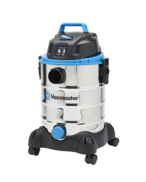 Vacmaster 6 Gallon, 3 Peak HP, Stainless Steel Wet/Dry Vacuum - $34.59 @Amazon
