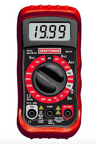 Craftsman 8 Function Digital Multimeter - $8.99 @ Sears + Free Store Pickup