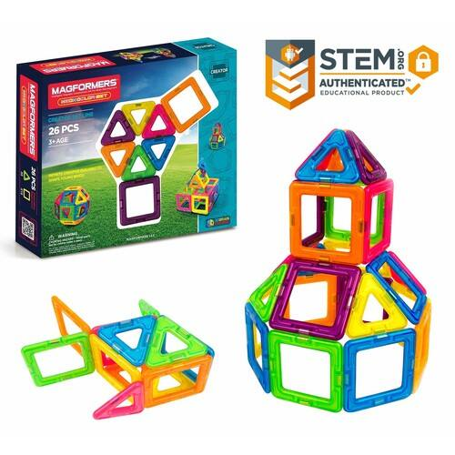 Magformers Neon 26 Pieces Rainbow Tiles - $17.46 @ Amazon + FS with Prime