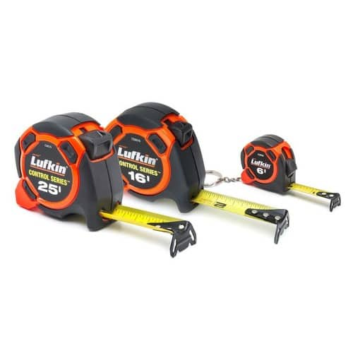 Lufkin Control 3-Pack Tape Measures (25-ft, 16-ft, 6-ft) - $3.82 @Lowes's + Free in store pickup - YMMV?