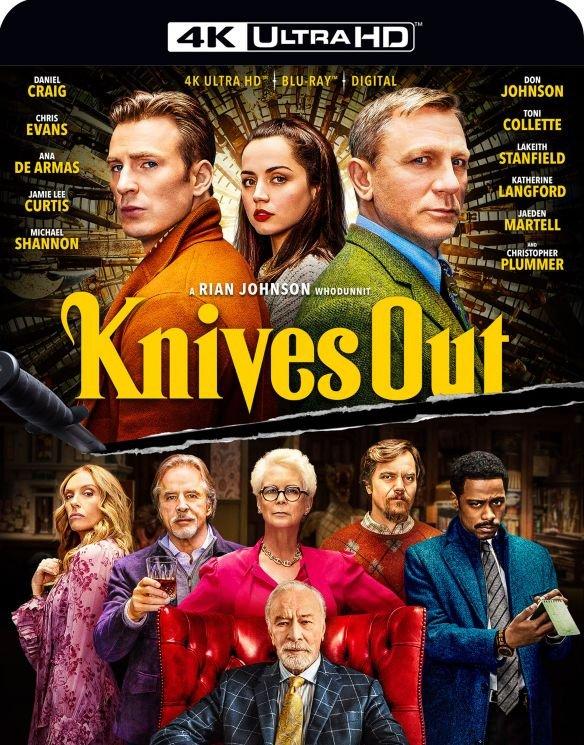 Knives Out (4K UHD Blu-ray + Digital) - $14.99 @ Best Buy + Free Curbside pickup