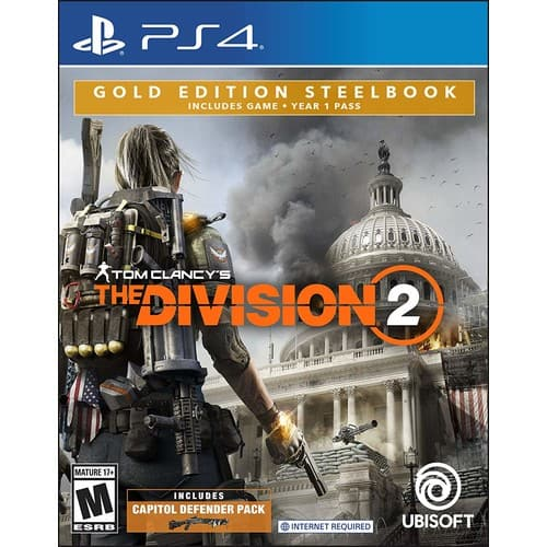 Tom Clancy's The Division 2 - PS4 Gold Steelbook Edition - $19.99 @ Amazon + FSSS