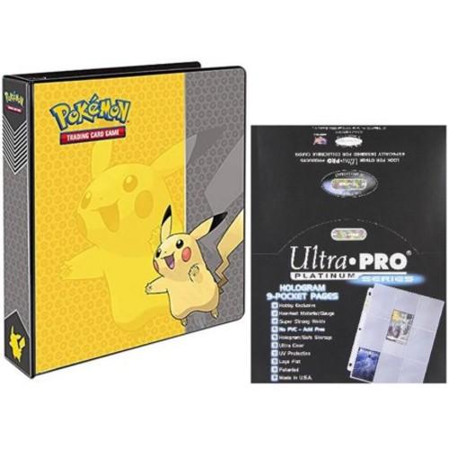 "Pokemon Pikachu 2"" 3-Ring Binder Card Album with 100 Ultra Pro Platinum Series 9-Pocket Sheets - $16.39 @ Amazon + FSSS"