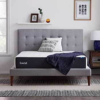 LUCID 10 Inch 2020 Gel Memory Foam Mattress - Medium Plush Feel - Hypoallergenic Bamboo Charcoal - Queen - $195.99 @ Amazon + FS