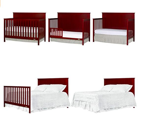 Dream On Me Alexa 5 in 1 Convertible Crib, Cherry - $149.99 @ Amazon + FS