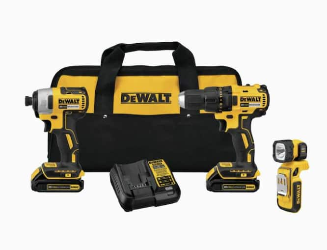 DEWALT 3-Tool 20-Volt Max Brushless Power Tool Combo Kit with 2 batteries and charger - $159.00 @ Lowe's + Free Store Pickup