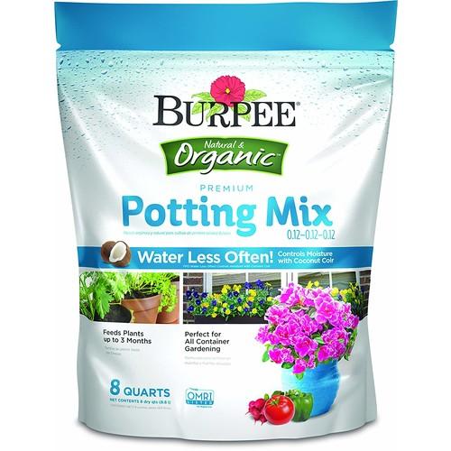 Burpee Organic Premium Potting Mix, 8 Quart - $6.99 @ Amazon + FSSS