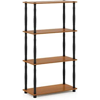 Furinno Turn-N 4-Tier Multipurpose Shelf Display Rack, Light Cherry/Black - $22.50 @ Amazon + FSSS