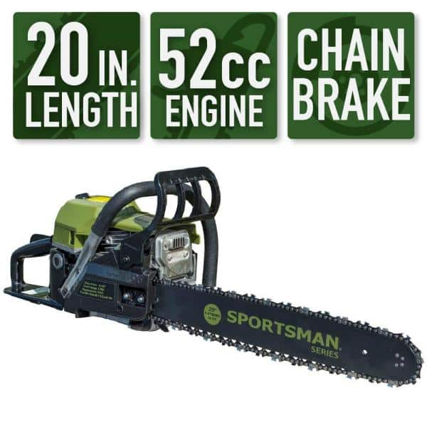 Sportsman 20 in. 52 cc 2-Stroke Gas Chainsaw - $109.00 @ Home Depot + FS