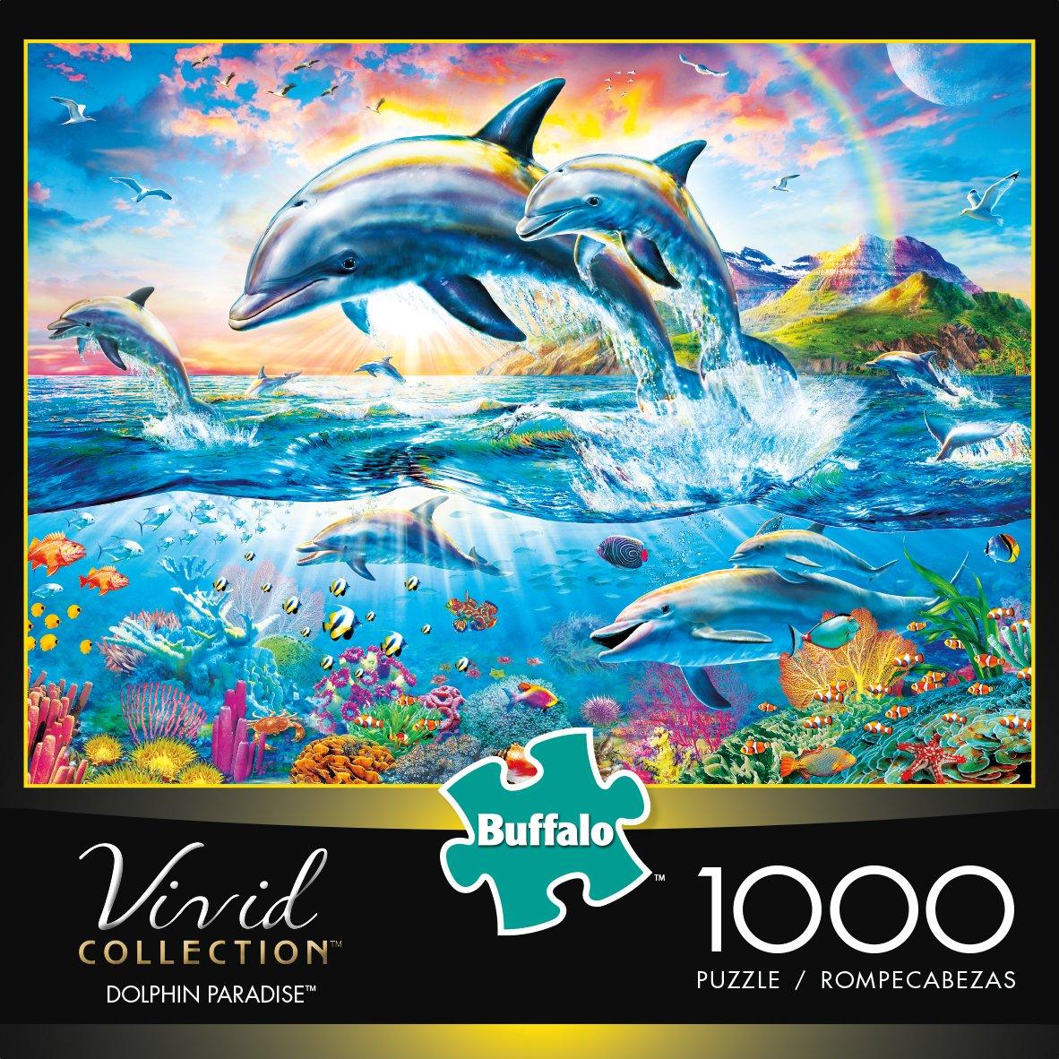 1000-Piece Buffalo Games Jigsaw Puzzle - Vivid Collection - Dolphin Paradise - $7.00 @ Amazon + FSSS