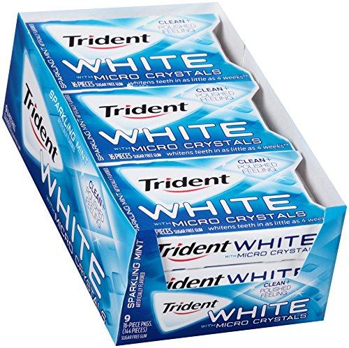 (ADD ON)Trident White Sugar Free Gum , 16 Piece, 9 Pack $5.17