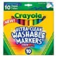 Crayola Ultraclean Broadline Classic Washable Markers (10 Count) 1.57 shipped (no prime needed)