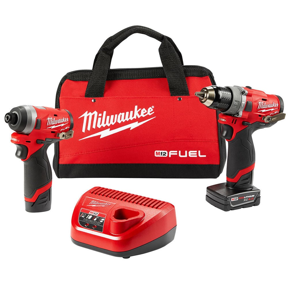 Milwaukee 2598-22 M12 FUEL Hammer Drill + Driver Kit GEN 2 $191 via Factory Authorized Outlet on eBay