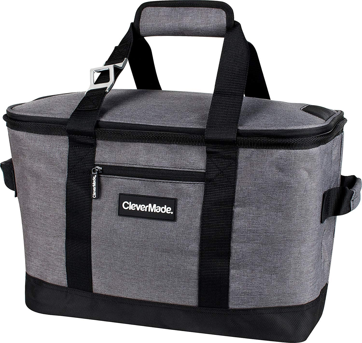 CleverMade SnapBasket 50 Can, Soft-Sided Collapsible Cooler/Black/Blue - $26.99 + F/S @Amazon