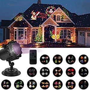 16 slides led christmas decoration projector light with red blue laser remote control only - Christmas Decoration Projector