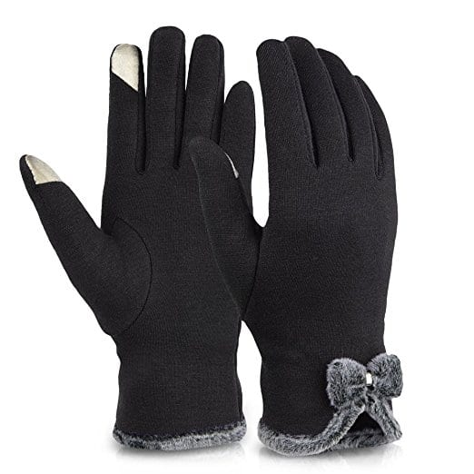 Vbiger Womens Winter Gloves Touch Screen Gloves Thick Warm Windproof Mittens for $5.94 - $6.64