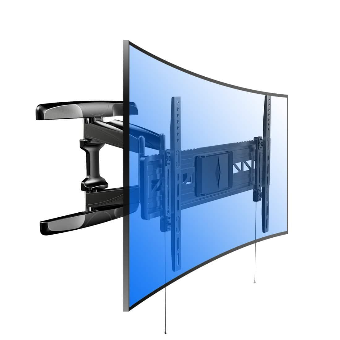 Wall Mount Bracket for curved and flat TVs most of 32-70 Inches LED, LCD,OLED TVs With Articulating Arm Swivel & Tilt $68.79