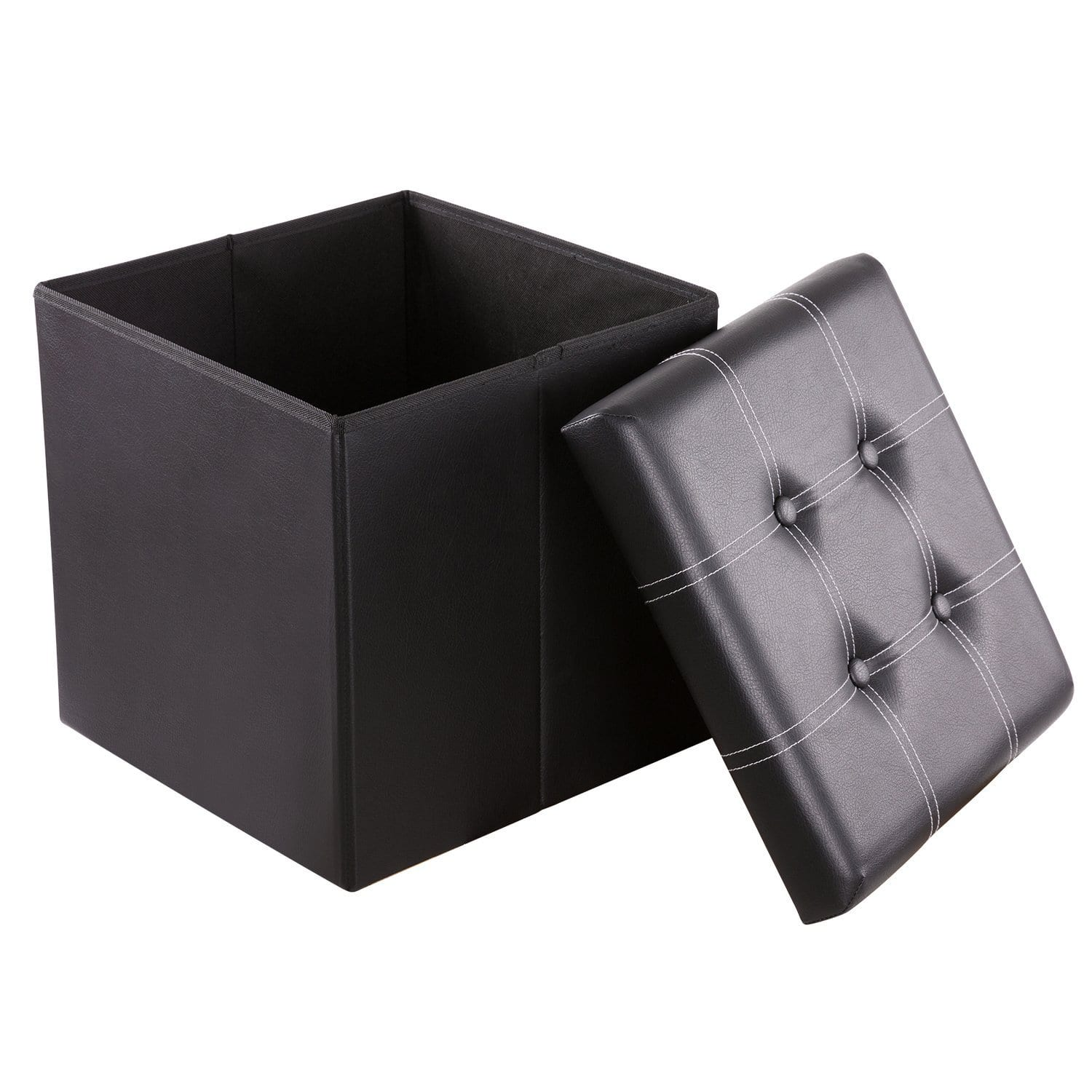 50% off Cyber Monday Sale Fold-able HollyHOME Storage Ottoman, only $9.99 AC from Amazon
