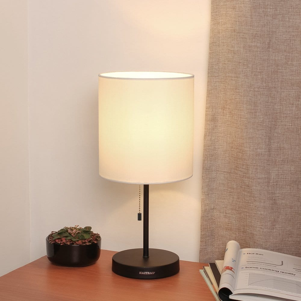 HAITRAL Metal Table Lamp for Living Room, Bedroom $13.99