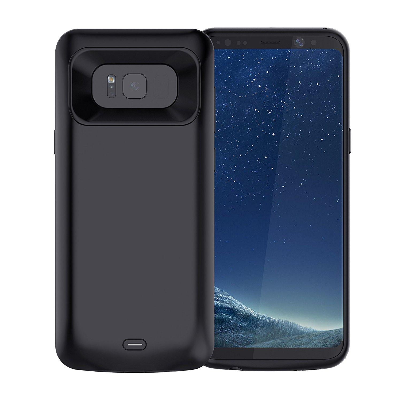 Jellas Galaxy S8 Battery Case, 5000mAh Portable Rechargeable External Backup Power Bank $10.5 AC @Amazon